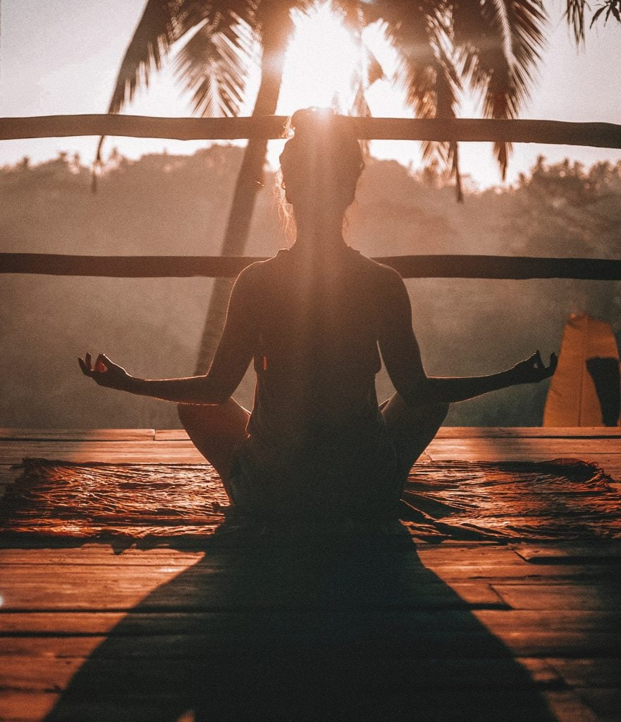 meditation and exercising