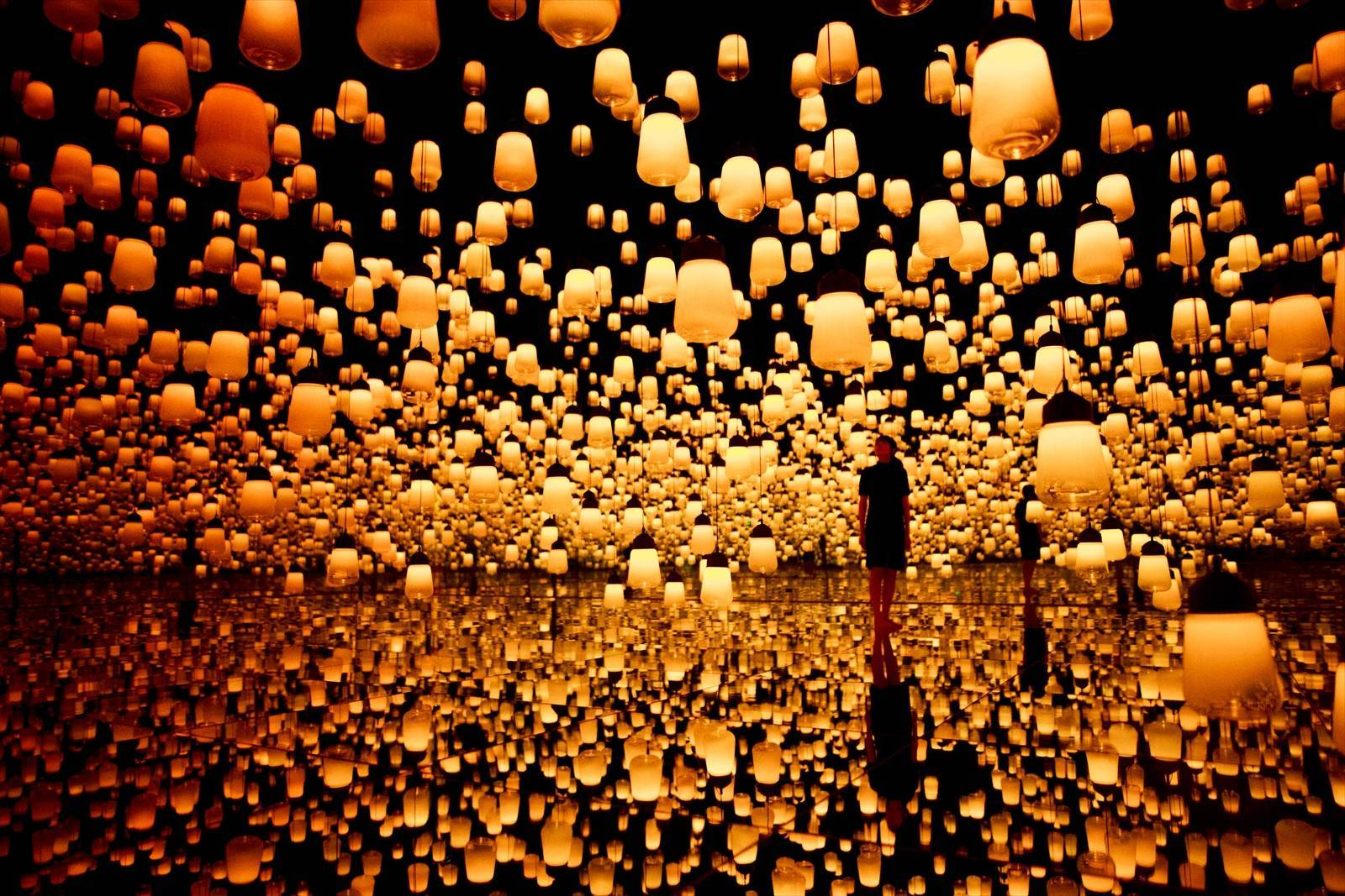The Forest Of Lamps - museum in tokyo