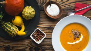 Recipe three: Pumpkin Soup with cream
