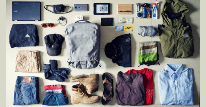 Packing like a minimalist traveller