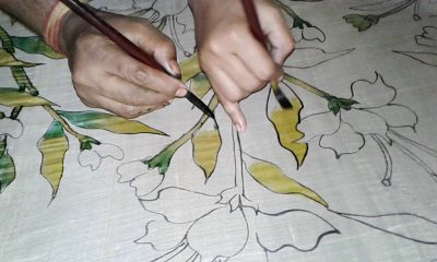 Hand-painted Saris