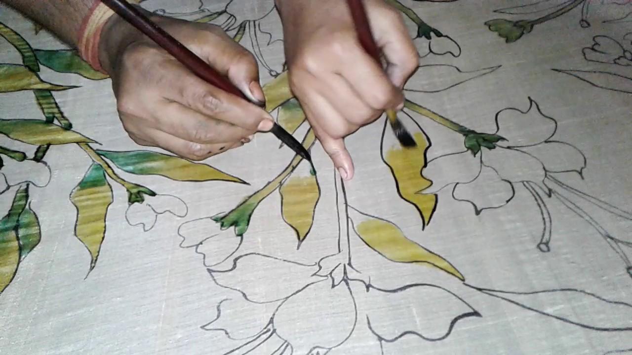 Hand-painted Saris